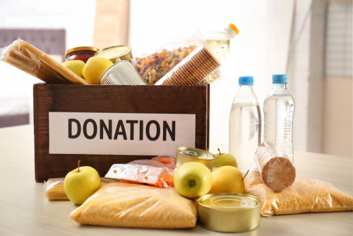 Lichfield foodbank thank Voyage Care