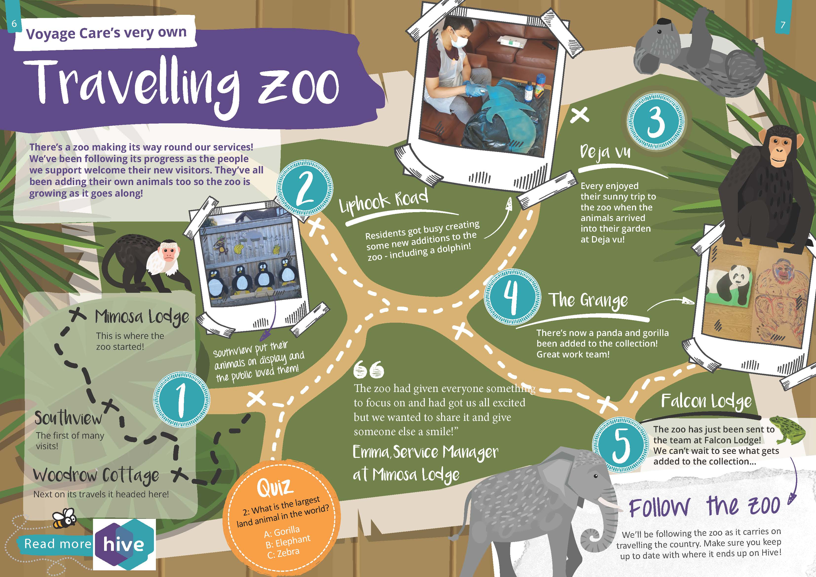 Voyage Care's very own traveling zoo