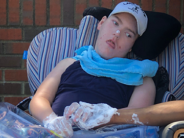 Adam continues to defy health barriers!