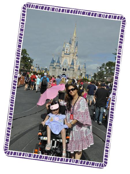 Rhea and Purabi outside the Disney Castle at Disneyland Florida.